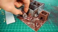 手办大师制作秀:用软泥装扮打造一个恐怖奶奶的地下室房子